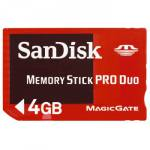 SanDisk Memory Stick Pro Duo 4GB Gaming Memory Card
