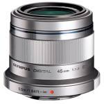 Olympus M.ZUIKO DIGITAL 45mm f1.8 Lens (Silver)