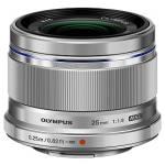 Olympus M.ZUIKO DIGITAL 25mm f1.8 Lens (Silver)