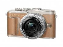 Olympus PEN E-PL9 Pancake Kit in Brown