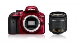 Nikon D3400 Digital SLR + 18-55mm AF-P DX VR Lens in Red