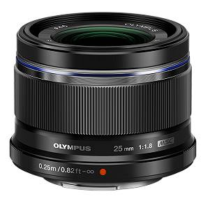 Olympus M.ZUIKO DIGITAL 25mm f1.8 Lens (Black)