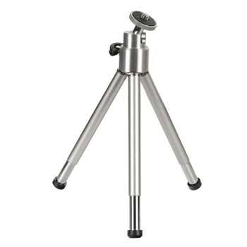Mini Tripod with Ball Tilt Head, silver