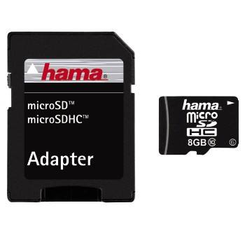 Hama microSDHC 8Gb Class 10 Memory Card (with adapter)