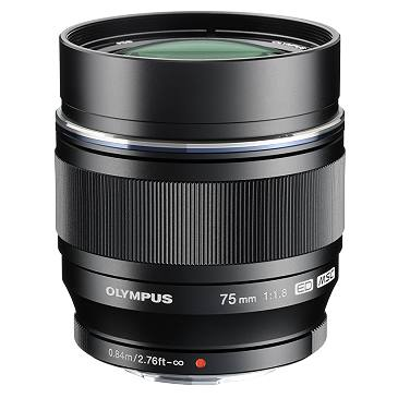 Olympus M.ZUIKO DIGITAL ED 75mm f1.8 Lens (Black)