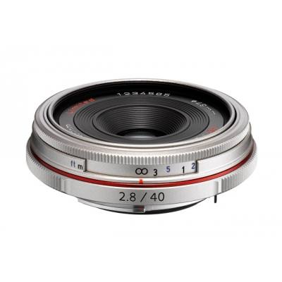 Pentax HD DA 40mm F2.8 Limited Lens in Silver