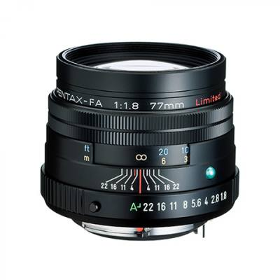Pentax smc FA 77mm F1.8 Limited Lens in Black