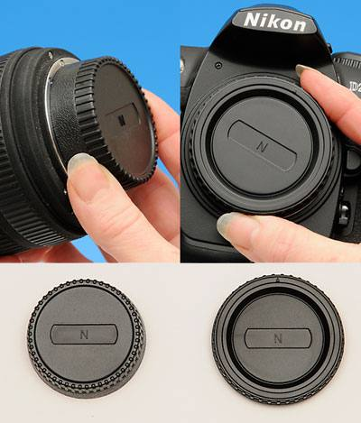 Body & Rear Lens Cap Combo Nikon