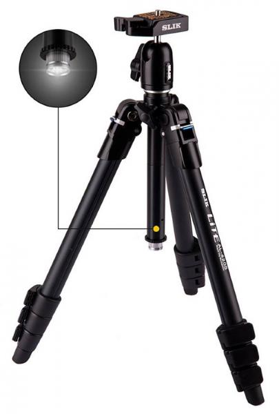 Slik LITE AL-420S Tripod with SBH-100DQA Ball & Socket Head