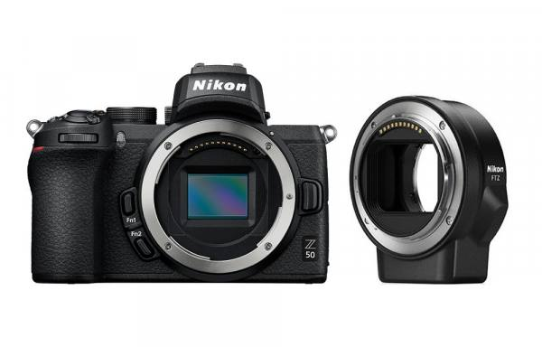 Nikon Z 50 Digital Camera Body With FTZ Mount Adapter in Black