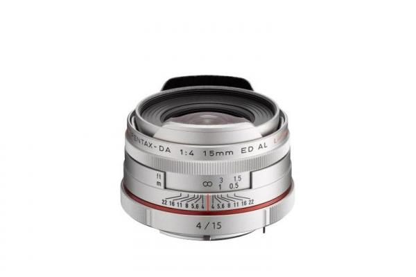 Pentax HD DA 15mm F4 ED AL Limited Lens in Silver