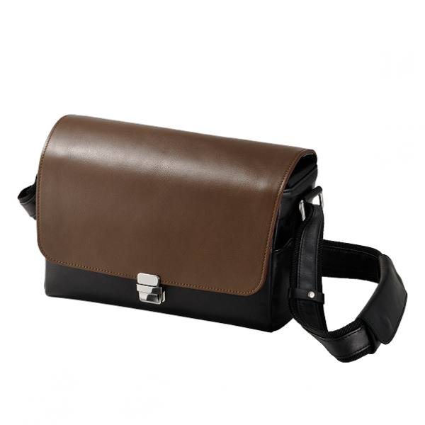 Olympus CBG-11 Premium Leather Camera Bag in Black Brown