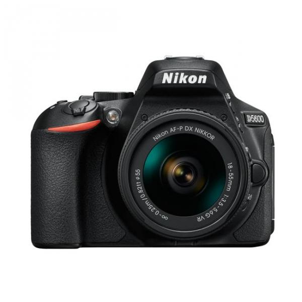 Nikon D5600 Digital SLR + 18-55mm AF-P DX VR Lens in Black